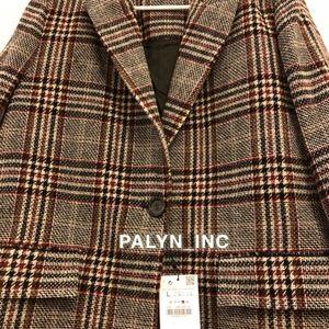 Zara Jackets & Coats - ❤️ZARA CHECKED PLAID MASCULINE COAT